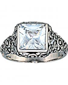 Montana Silversmiths Women's Mountain Princess Solitaire Ring