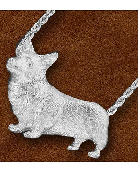 Kelly Herd Women's Sterling Silver Large Corgi Necklace