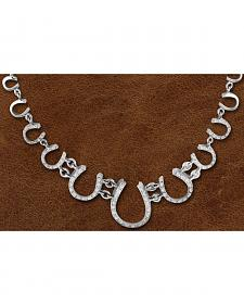 Kelly Herd Sterling Silver Multi Horseshoe Necklace