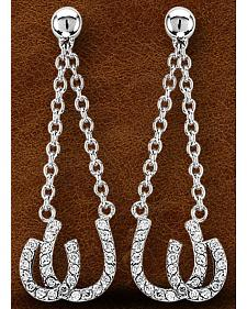 Kelly Herd Sterling Silver Double Horseshoe Earrings