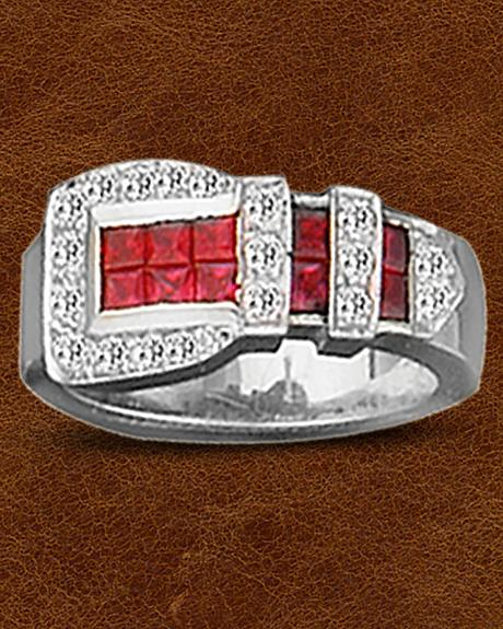 Kelly Herd Sterling Silver Ranger Style Buckle Ring
