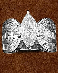 Kelly Herd Sterling Silver Horseshoe & Marquis Ring