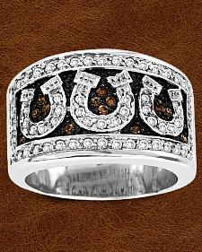 Kelly Herd Sterling Silver Pave Horseshoe Ring