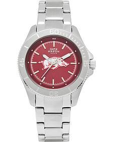 Jack Mason Women's Arkansas Team Color Dial Sport Bracelet Watch