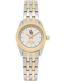 Jack Mason Women's University of Oklahoma Two-Tone Bracelet Watch