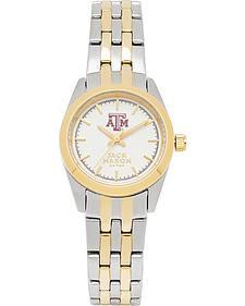 Jack Mason Women's Texas A&M Two-Tone Bracelet Watch