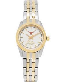 Jack Mason Women's University of Texas Two-Tone Bracelet Watch