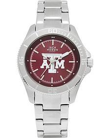 Jack Mason Women's Texas A&M Team Color Dial Sport Bracelet Watch