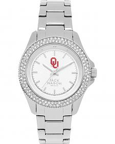 Jack Mason Women's University of Oklahoma Glitz Sport Bracelet Watch