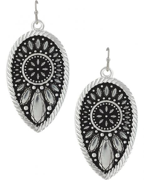 Montana Silversmiths Women's Frozen Prairie Clover Earrings