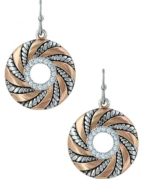 Montana Silversmiths Twisted Wreath of Burnished Ribbon Earrings