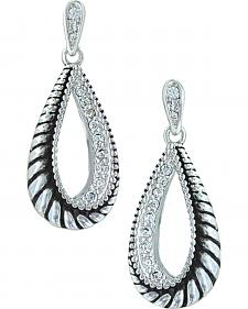 Montana Silversmiths Women's Frosted Rope Twist Earrings