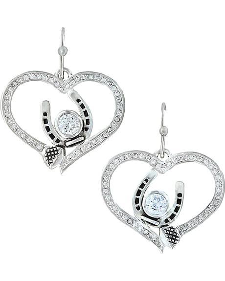 Montana Silversmiths Women's Blacksmith's Treasure Heart Earrings