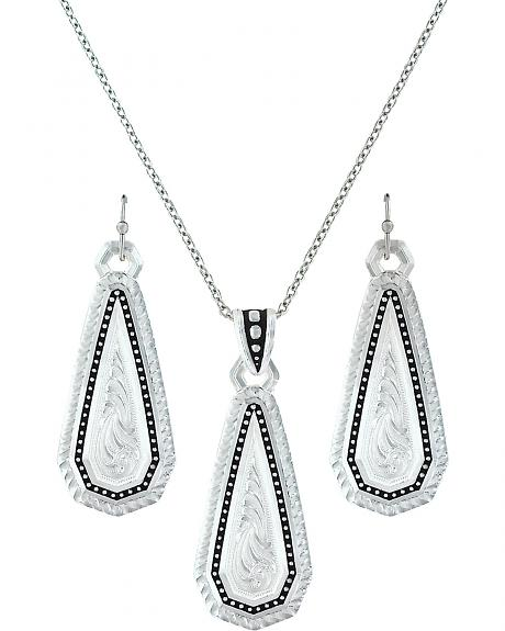 Montana Silversmiths A Fine Stitch Shard Jewelry Set