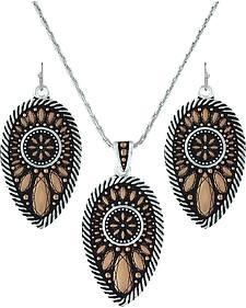 Montana Silversmiths Sunset Prairie Clover Jewelry Set