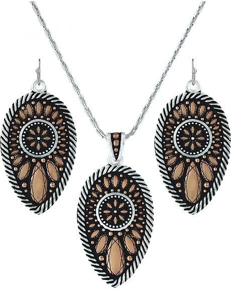 Montana Silversmiths Sunset Prairie Clover Jewelry Set