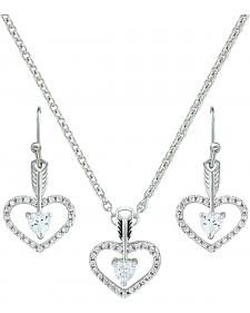 Montana Silversmiths Straight to the Heart Arrow Jewelry Set