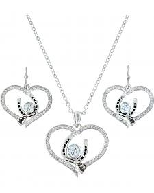 Montana Silversmiths Blacksmith's Treasure Heart Jewelry Set