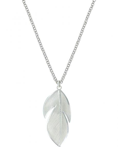 Montana Silversmiths Women's Floating Feather Necklace