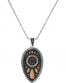 Montana Silversmiths Women's Sunset Prairie Clover Necklace