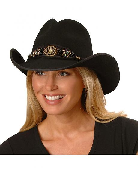 Scala Twisted Suede Band Cowgirl Hat
