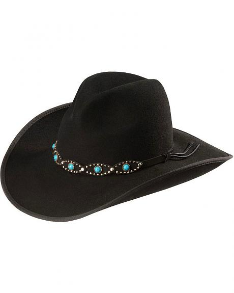 Scala Turquoise Beaded Cowgirl Hat