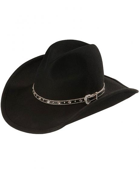 Scala Concho Band Wool Cowboy Hat