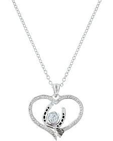 Montana Silversmiths Women's Blacksmith's Treasure Heart Necklace