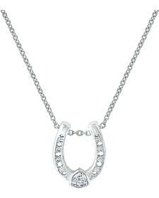 Montana Silversmiths Lucky Trillion Treasure Horseshoe Necklace