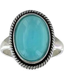 Montana Silversmiths Women's Misty Blue Pool Ring