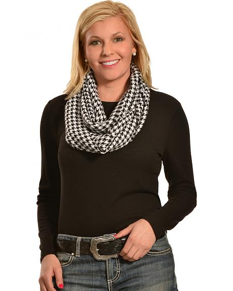 Rapti Women's Cashmere Houndstooth Infinity Scarf