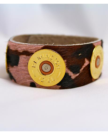SouthLife Supply Women's Pink Camo Cuff in Traditional Gold