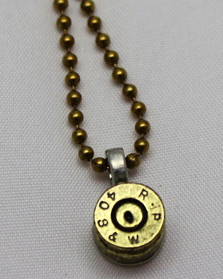 SouthLife Supply Dolly Bullet Pendant in Antique Gold