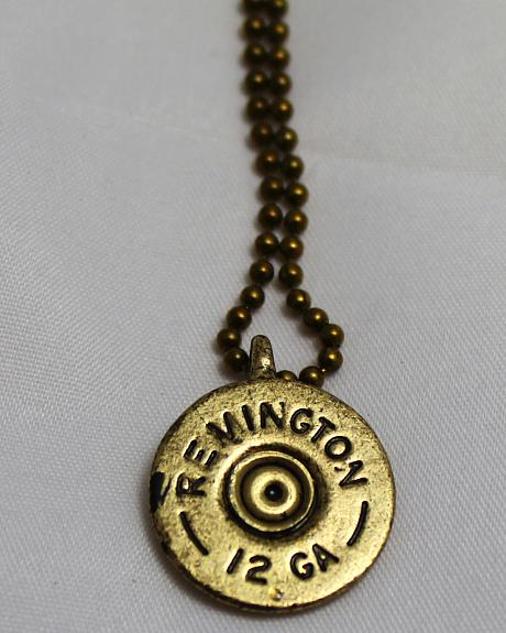 SouthLife Supply Women's Oakley Shotshell Necklace in Antique Gold