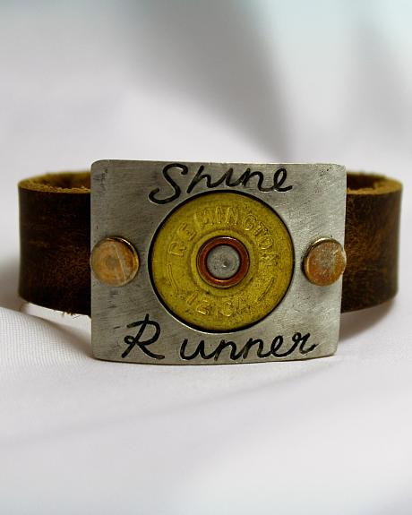 SouthLife Supply Shine Runner Plated Cuff with Traditional Gold Shotshell