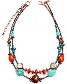Treska Women's Santa Fe 2-Row Beaded Necklace