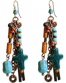 Treska Women's Santa Fe Cord Bead & Chain Earrings