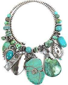 Treska Women's Mykonos Chunky Dangle Coil Necklace