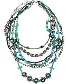 Treska Women's Cowtown 6-Strand Beaded Necklace