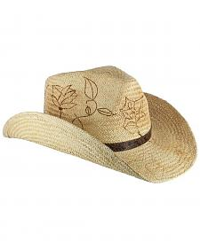 Shyanne Women's Floral Branded Cowgirl Hat