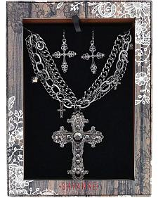 Shyanne Women's Ornate Cross Jewelry Set