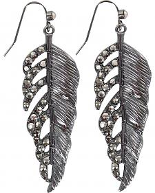 Shyanne Rhinestone Feather Earrings