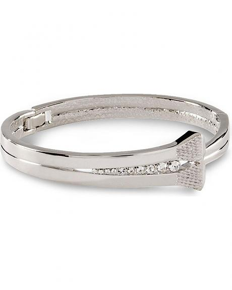 Montana Silversmiths Cubic Zirconia Horseshoe Nail Bracelet