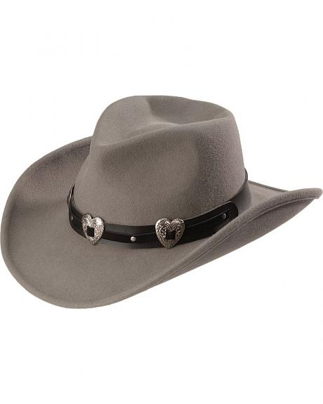 Julia Gunmetal Wool Felt Cowgirl Hat