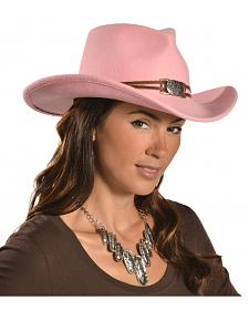 Juniper Pink Wool Felt Cowgirl Hat