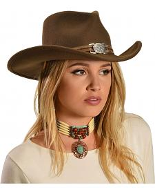 Reba Brown Wool Felt Cowgirl Hat
