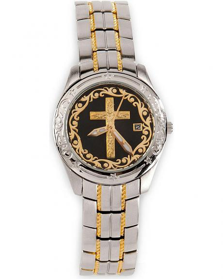 Montana Silversmiths Two-Tone Cross Watch