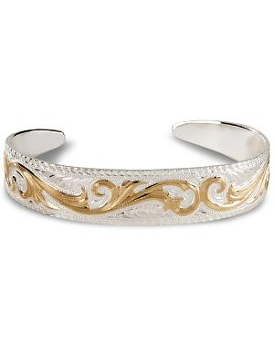 Montana Silversmiths Tapered Scroll Cuff Bracelet