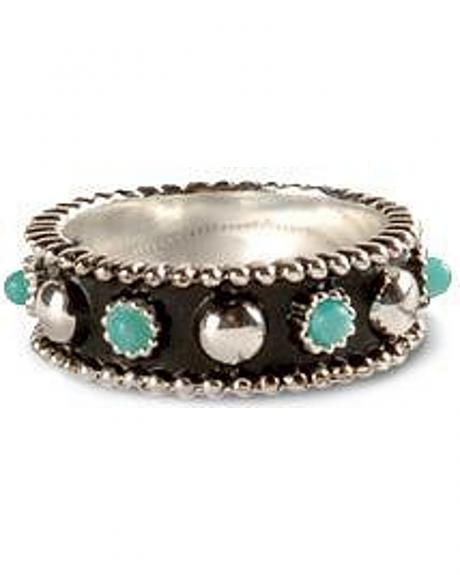 Montana Silversmiths Sterling Silver & Faux Turquoise Ring - Size 9