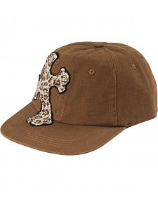 Leopard Print Cross Brown Fashion Cap